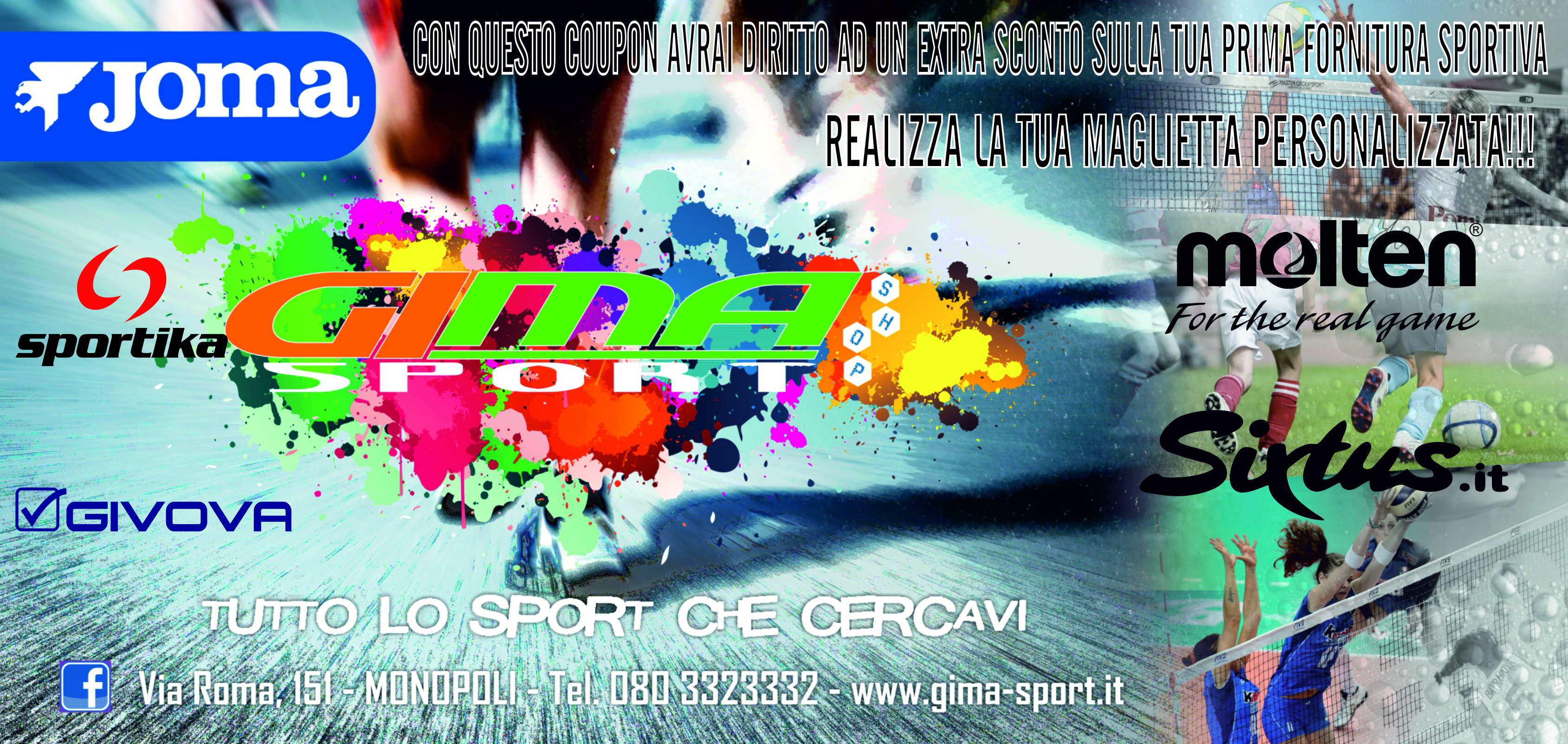COUPON GIMA SPORT